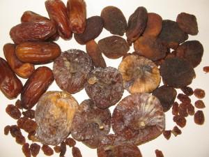 Trockenfrüchte Obst des Winters