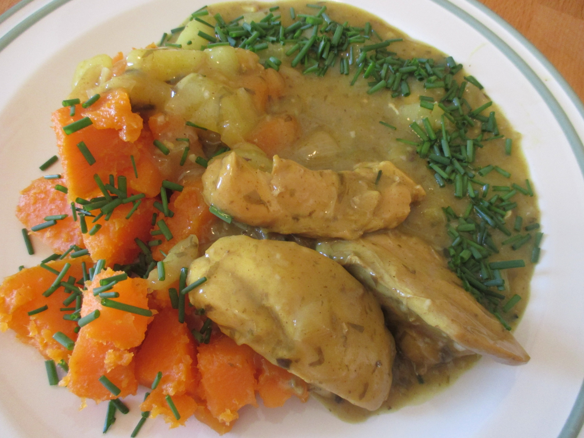 Curry-Zwiebel-Huhn